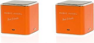 Music Angel Best Friendz Speaker for iPhone/iPod/MP3 Player - Orange (Pack of 2)