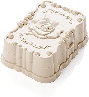 Elegant soap Box Soap Dish Holder/Soap Savers DishWaterproof with lid soap Box Bathroom soap Box Creative Travel soap Tray soap Holder, Beige (Color : Beige)