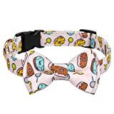 Gyapet Dog Collar for Large Medium Dogs Breakaway Adjustable Bowtie Detachable Cute Personalized Donut S