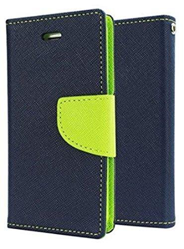 CEDO Luxury Mercury Magnetic Lock Diary Wallet Style Flip Cover Case for Lenovo Vibe K6 Note (Blue)