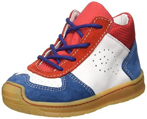 RICOSTA Davy, Jungen Hohe Sneakers, Blau (petrol/rot 141), 21 EU (5 Kinder UK)