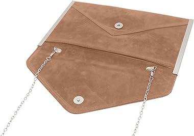 Cerlemi Kleine UmhäNgetasche Damen Clutch Abend Prom Handtasche Abendtasche Geldbörse Elegante Einfarbig Flanell Schultertasc