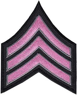 Pink LINE Sergeant Chevrons, Pink/Grey on Black, 3