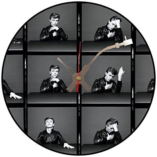 BottleClocks Iconic David Bowie Disco de vinilo reloj de pared (Multi Photo)