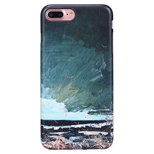 GOLINK Oil Painting Series Matte Finish Slim-Fit Anti-Scratch Shock Proof Anti-Finger Print Flexible TPU Gel Case for iPhone 7/8 Plus - Gulls