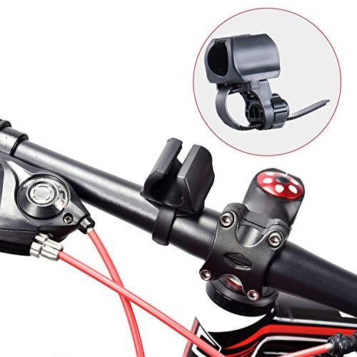 WUBEN Fahrradhalter Taschenlampenhalter Einstellbar, Taschenlampe Schwarz L50 LT35 L60 und 10~40mm Taschenlampe