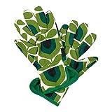 ORLA KIELY - Guantes de jardinería (tulipán, a rayas), color verde