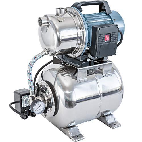 Hauswasserwerk 1300 W HWW 4800/E | Wasswerk mit hochwertigem Gehäuse aus Edelstahl