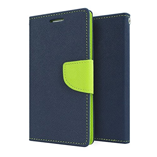 JMD Luxury Mercury Magnetic Lock Diary Wallet Style Flip Cover Case for Samsung Galaxy Core 2 G355 (Blue)