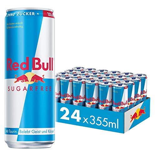 Red Bull Energy Drink Sugarfree Dosen Getränke Zuckerfrei 24er Palette, EINWEG (24 x 355 ml)