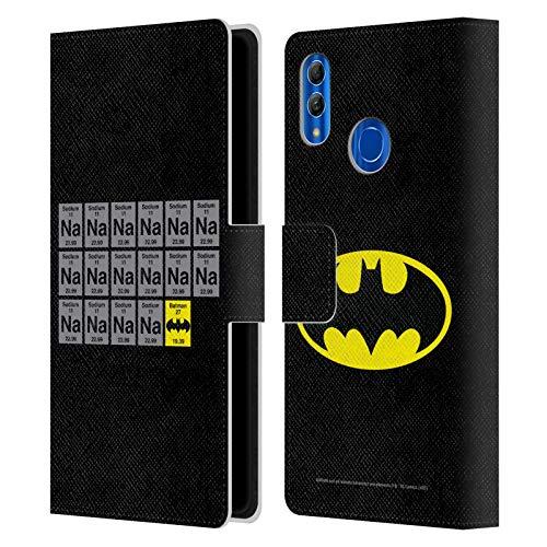 Head Case Designs Oficial Batman DC Comics Na Na Na Na Na Na Na Na Na Logotipos Carcasa de Cuero Tipo Libro Compatible con Huawei Honor 10 Lite