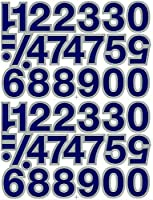 (シャシャン)XIAXIN 防水 PVC製 ナンバー ステッカー セット 耐候 耐水 数字 キャラクター 表札 スーツケース ネームプレート ロッカー 屋内外 兼用 TS-140 (2点, ブルーXシルバー)