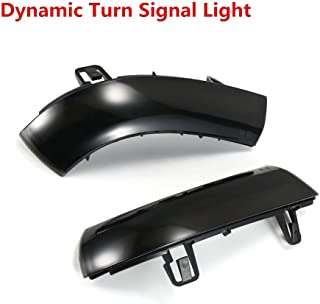 HBNW 2 Pcs Dynamic Turn Signal Light LED Side Wing Rearview Mirror Indicator Blinker Light for A4 A5 B8 A3 8P Q3 A6 C6 4F S6 SQ3 A8 D3 8K