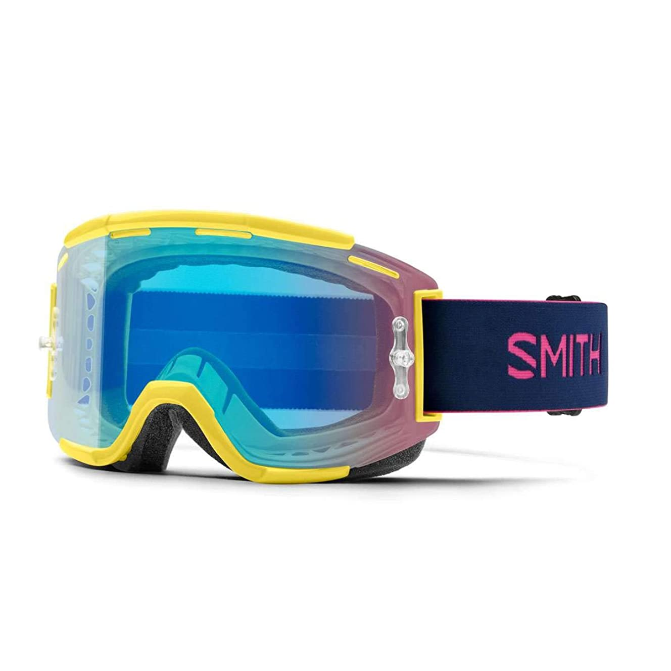 Smith Optics Squad Adult MTB Off-Road Cycling Goggles - Citron/Indigo/ChromaPop Contrast Rose/One Size