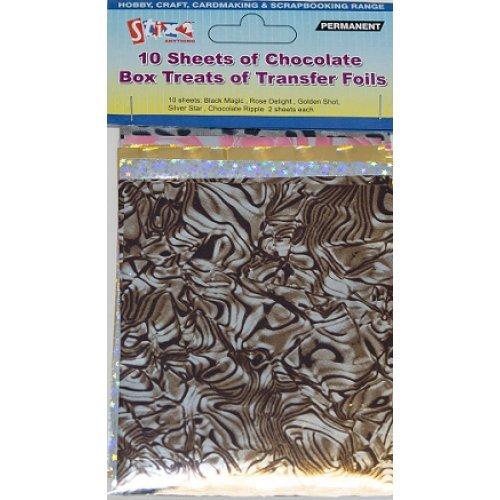 Stix2 10 Sheets von Transfer Folien Schokolade Box Behandelt Farben Gold Silber