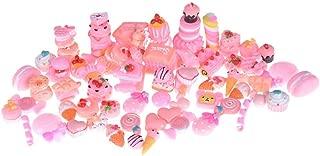 Vanselonsa 2019 10pcs Lot Kawaii Artificial Resin Candy Sweet Food Toys Dollhouse Miniatures Mobile Phone Diy - Silver Miniatures Metal Figurines