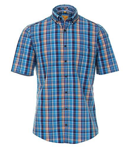 Redmond - Modern Fit - Herren Kurzarm Hemd mit Button Down Kragen (93300990), Farbe:Blau (15), Größe:XXL