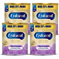 Enfamil Gentlease Sensitive Baby Formula Gentle Milk Powder, Omega 3 DHA, Probiotics, Iron & Immune & Brain Support, 27.7 oz, Pack of 4 (Package May Vary)