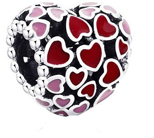 WAY2BB – Abalorio de plata con diseño de torrent de amor para el Día de la Madre 2020