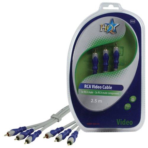 HQ SV-320-2.5 componente (YPbPr) cable de vídeo 2,5 m 3 x RCA...