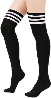 DZT1968® 1 Pair Women Triple Stripe Over the Knee High Socks