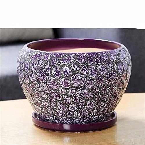 Medium Purple Flower Pots Outdoor Indoor Garden Planters,Bonsai Container Cactus, Flower Pot Garden Plant Vase Table Flower Decoration