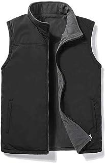 Men Zip Up Slant Pocket Vest Jacket,Lightweight Softshell Men's Vest