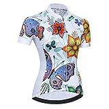 Weimostar - Maillot de ciclismo para mujer, manga corta, chaqueta de ciclismo de montaña, ropa ajustada, Mujer, CD5800, Chest34'-36.2'=Tag M