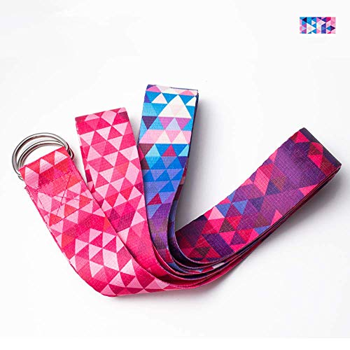 N/P Yoga Stretch Belts Multi-Colors D-Ring Strap Washable Gym Home Yoga Exercise Accessories Training Rope Resistance Bands
