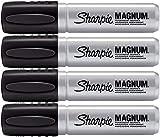 Sharpie–Juego de Pro Magnum profesional marcador permanente, gran punta cuadrada, tinta negra, paquete de 4