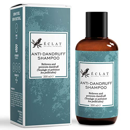 Premium Anti Dandruff Shampoo - Natural Anti-Dandruff Shampoo with Jojoba Oil - Rich in Antioxidants Vitamins and Oils to Treat and Prevent Itchy and Inflamed Flaky Scalps
