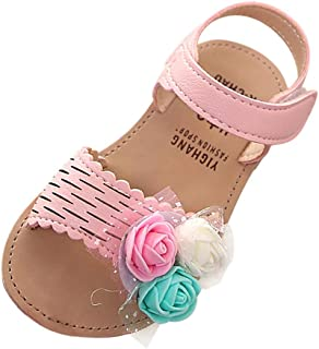 🙌🙌 Girls Boys Summer Beach Breathable Quick Dry Closed Athletic Closed-Toe Water Sandals for Kids