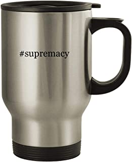 #supremacy - 14oz Stainless Steel Travel, Silver