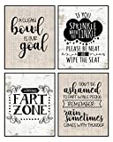Silly Goose Gifts Funny Rustic Themed Bathroom Decor Art Print Wall Art Gift Sets Typography Rustic Unframed Pictures Signs Rules (Fart Zone)