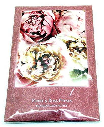 Parfumée pour garde-robe – Double sachet parfumé en – Pivoine et pétales de rose