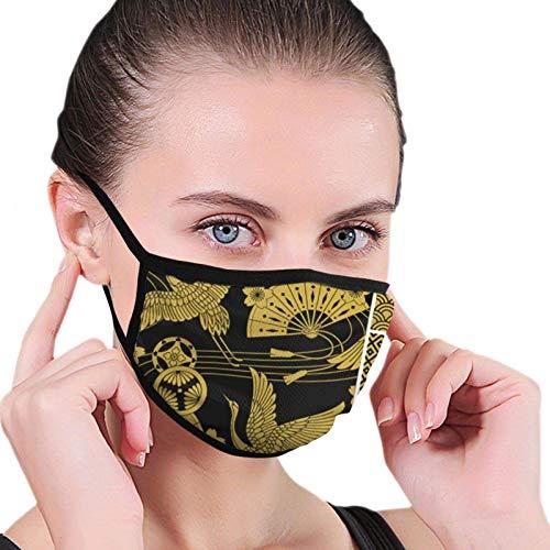 Juego japonés de adornos The Arts máscara facial para hombres, mujeres, niños, adolescentes, impresión cómoda, lavable, reutilizable, cubierta para la nariz para cosplay