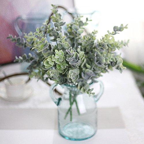 Artificielle Faux Plastique d'eucalyptus pour plantes fleurs Home Garden Décoration de fête de mariage