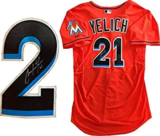 2fced3838fa Christian Yelich Autographed Game Used Miami Marlins Jersey (MLB) - MLB Autographed  Game Used