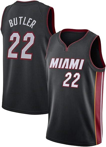 Z/A Miami Heat Encargo De Los Deportes Jimmy Butler, NO.22 Baloncesto del Juego del Uniforme De Los Hombres del Jersey De Equipo De Entrenamiento ...