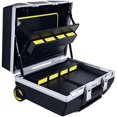 RAACO Werkzeugkoffer ToolCase fahrbar mit Rollen 485x410x250 mm