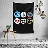 CXN Y KING Hollywood Undead Tapestry Wall Hanging Fashion Art Print Blanket for Home Office Dorm Studio Decorative 60 X 40 Inches Mural