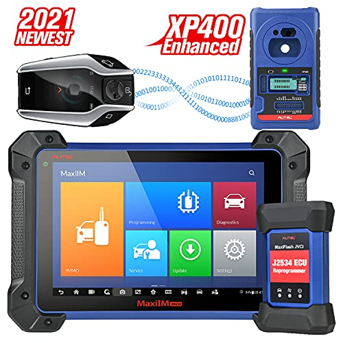 Autel MaxiIM IM608 with Enhanced XP400 Key Programmer & J2534 ECU Programmer, IMMO Key Programmer Car Diagnostic Tool with Bi-Directional Control, 31+ Services, ECU Coding, All Systems Diagnosis