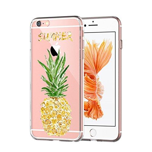 iPhone 6 Custodia, iPhone 6s Cover,TPU iPhone 6 6s Bello Gatto iPhone 6 6s Popolari Case Anti-Scratch Gel Silicone Custodia per iPhone 6 6s 4.7 Pollici (Pineapple)