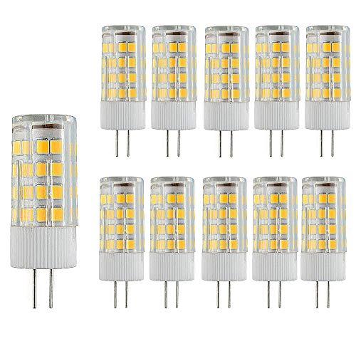 10 Paquetes Bombillas LED G4 Lampe de Maíz que Ahorra Energía 3000k Lámpara LED No Regulable,3W(Equivalente a 30W Halógena)Bombilla de Iluminación LED Blanca Cálida con Ángulo de haz de 360 °