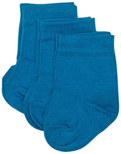 Melton Baby-Mädchen 600001 Socken, Türkis (Petrol 290), 19 (Herstellergröße: 17-19) (3er Pack)