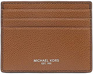 Michael Kors Men's Warren, Leather Tall Card Case Wallet - Luggage