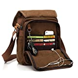 Messenger Bag [New Version], CHEREEKI Multiple Pockets (Hold 10 inch tablet, iPad, Kindle)