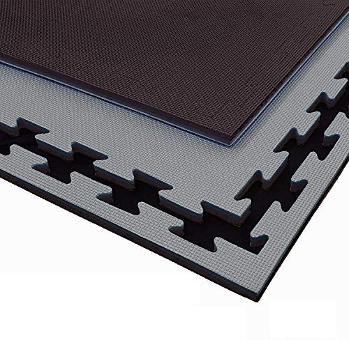 G5 HT SPORT Tatami Rosso Blu da Fitness a Puzzle   100 * 100 * 2 cm   Protezione per Pavimenti   materassino per Palestra, Workout, Ginnastica, Arti Marziali   Lavabile e Reversibile