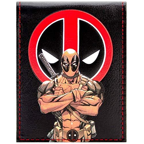 Marvel Deadpool Zeichentrickfigur Schwarz Portemonnaie Geldbörse