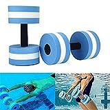 fllyingu Mancuerna Agua Yoga Ejercicio Mancuerna Mancuernas Aquahanteln Aquahantel con asa de asa para Agua Fitness Aquagym Aquajogging 2 Piezas